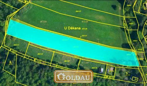 Stavební pozemek pro chaty, 5326 m2, Jivno, okr. České Budějovice
